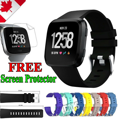 $ CDN6.99 • Buy For Fitbit Versa Watch Band Replacement Classic Soft Wristband Strap Watchband