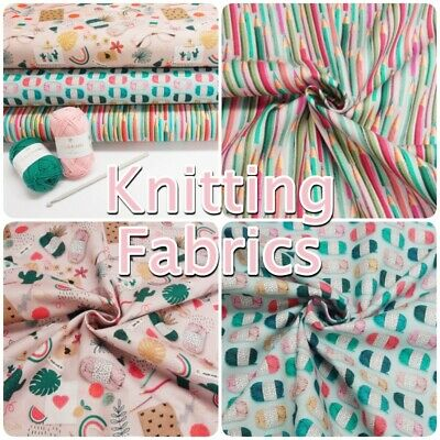 French Knitting Yarn And Crochet Crafty Themed 100% Cotton Patchwork Fabric • 9.99£