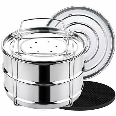 $ CDN46.59 • Buy Aozita 3 Quart Stackable Steamer Insert Pans Accessories For Instant Pot Mini