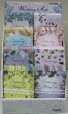 Letter Writing Set 25 Paper Sheets 20 Envelopes Floral Carol's Rose Garden Note • 8.99£