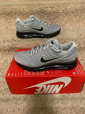 $112 • Buy Nike Air Max 2017 Running Shoes Men's Size 10 Grey/Black/Platinum 849559 012