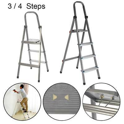 Modern Step Ladder EN131 Folding Platform Steps Grab Rail Youngman Stepladder • 24.99£