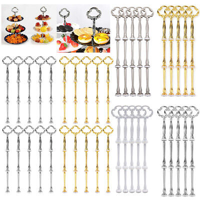£8.54 • Buy 3 Tier Cake Cupcake Plate Stand Handle Hardware Rod DIY Dessert Plated Fitting