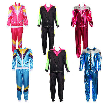 80s 90s Scouser Shell Suit Mens Ladies Fancy Dress Stag Hen Disco Party Costume • 15.99£