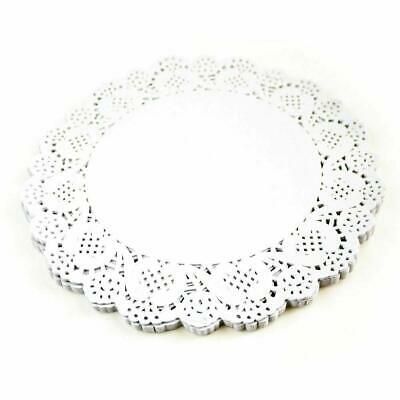 Oval / Round White Paper Doilies Lace Pattern Coasters Table Mats Cover • 1.10£