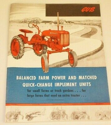 AU22.80 • Buy IH Farmall Cub 1947 Introductory Brochure 40 Pages Implements Plows Planters Etc