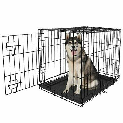 $89.99 • Buy Large Dog Crate XXL Kennel Extra Huge Folding Pet Wire Cage Giant Breed