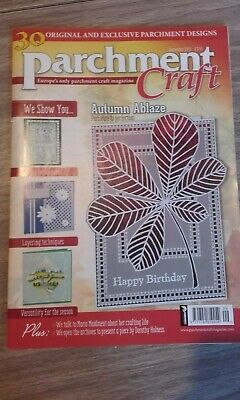 Parchment Craft Magazine Sept 2015 30 Exclusive Designs Paper Cards Instructions • 2.99£