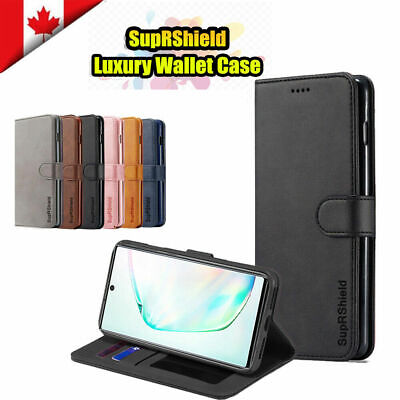$ CDN8.99 • Buy For Samsung Galaxy S9 S10 S10e Note 10 Plus SupRShield Wallet Leather Case Cover