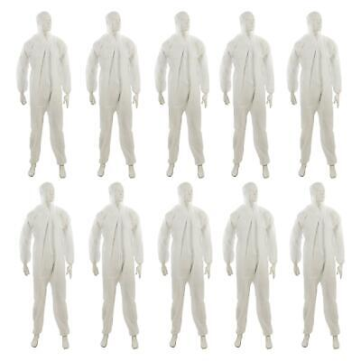 £45.99 • Buy 10x Disposable Hooded Coverall Paper Suit Protective Overall. DIY Spray Paint