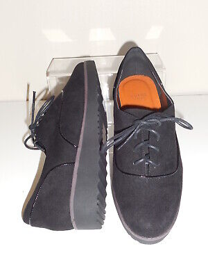 Flat Black Faux Suede Lace Up  Shoes Size 6 Wide (EEE) BNWT-Evans RRP £36 • 16.99£