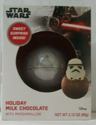 Star Wars Holiday Milk Chocolate Death Star With Marshmallow Storm Trooper - New • 5.13£