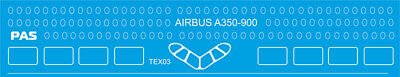 1/144 PAS-DECALS. REVELL. ZVEZDA Decal For Airbus A350-900 White Elements • 5.01£