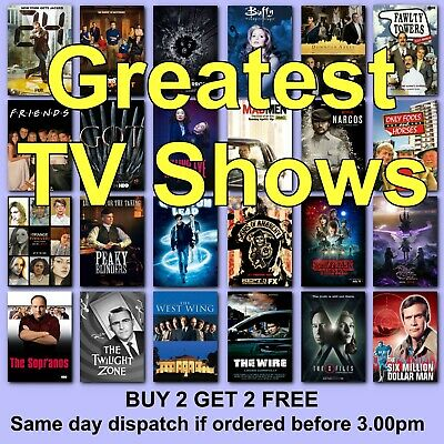 TV Shows Poster Classic Movie Posters Film Poster Films HD Borderless Printing • 6.37£