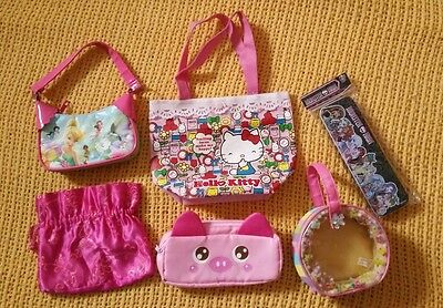 Girls Handbags Pencil Cases Hello Kitty Tinker Bell Monster High..... • 7£