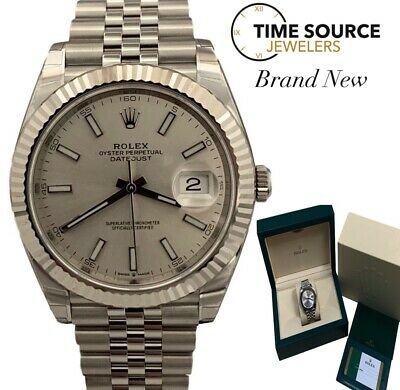 $ CDN13942.03 • Buy New Rolex Datejust 41 18K Gold & Steel Jubilee Silver Dial B&P 126334 Watch