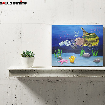 Squidward Seabear Attack Canvas Painting Wall Art Prints Decor Gifts Spongebob • 15.39£