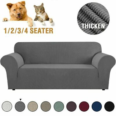 AU30.99 • Buy Super Stretch Couch Covers Sofa Covers Slip Covers Soft Thick 1/2/3/4 Seater