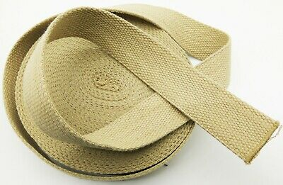 £4.99 • Buy 100% Cotton Thick CANVAS Webbing Strap Tape Bag Belt Upholstery Fabric Handle