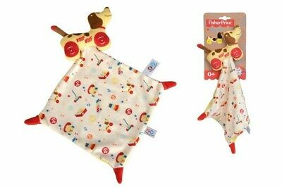Comforter Fisher Price Dog Brown Wouf Little Snoopy Handkerchief Vintage Flat • 9.78£