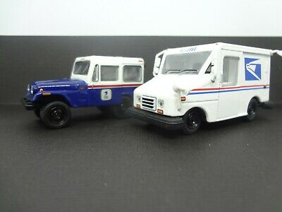 $13.98 • Buy GL 1971 Jeep DJ-5 Blk Rims US Mail & USPS LLV Mail Delivery Loose New Mint 1:64
