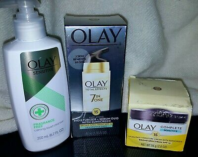 $19.95 • Buy OLAY Lot-Total Effects 7 In Moisturizer, Complete Moisture Crm,calming Cleanser