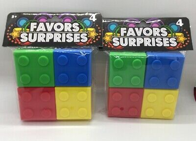 $11.99 • Buy 8 Piece Lego Birthday Party Favor Boxes BUILDING BRICK Containers With Lids