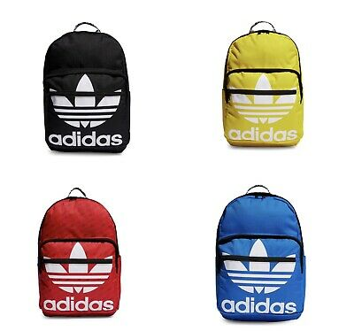 $39.49 • Buy Adidas Originals Trefoil Backpack Laptop Sleeves Red, Blue, Yellow, And Black