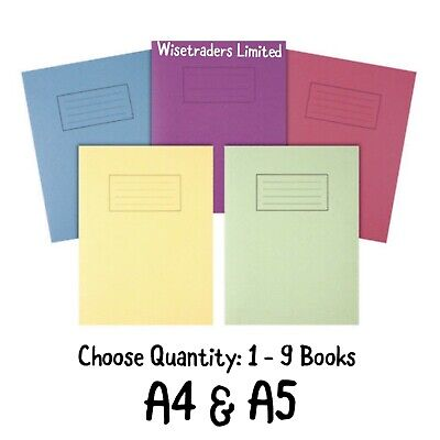 Silvine A4 A5 Exercise Books School Notebooks 80 Pages Class Children Homework • 1.99£