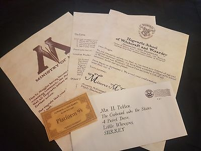 AU10.95 • Buy Harry Potter - Hogwarts Acceptance Letter - Handmade And Personalised