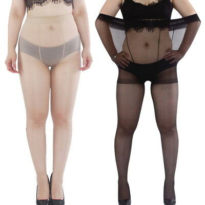 New Plus Size Women Nylon Elastic Shaping Pantyhose Stockings Tights • 4.49£