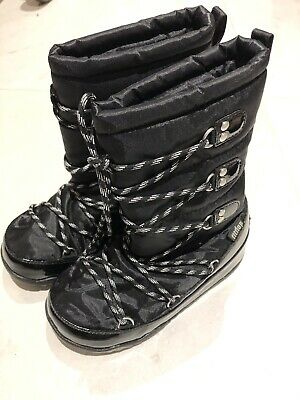 FitFlop Girls Snow Boots Size 1, Black • 31.99£