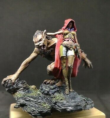Painted Finished Queen&Wolf Resin Figure Model GK • 25.50£