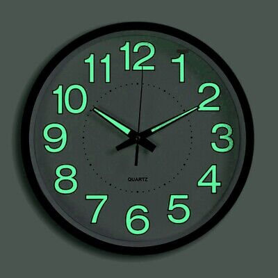 AU30.89 • Buy 12 Inches High Precision Silent Wall Clock Luminous Clock For Living Room Office