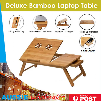 $18.49 • Buy Bamboo Foldable Breakfast Table, Laptop Desk, Bed Table, Serving Tray