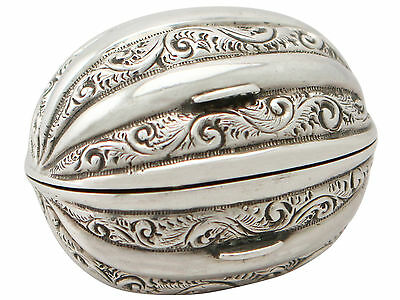 Victorian English Sterling Silver Nutmeg Grater • 2,145£