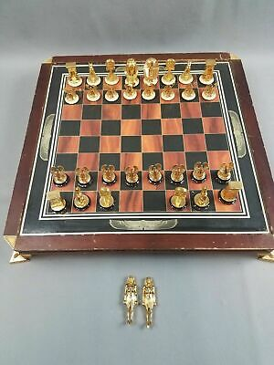 Franklin Mint The Treasure Of Tutankhamun Chess Set. Missing Black King & Queen • 197.71£