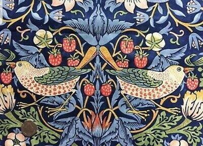 £125 • Buy Door Curtain In William Morris Heavy Cotton Fabric Strawberry Thief Red Or Blue