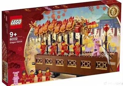 $205 • Buy Rare LEGO 80102 Chinese New Year Dragon Dance 2019 Asia Exclusive