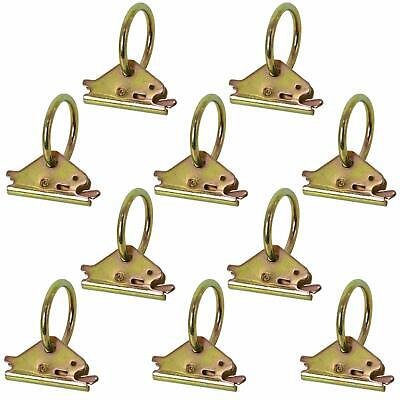 $16.59 • Buy 10Pack E-Track O Ring Tie-Down Anchors For Cargo In Enclosed/Flatbed Trailers