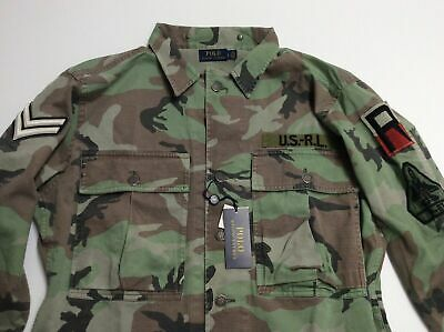 $199.99 • Buy Polo Ralph Lauren Military Army Camo Officer Chevron Soldier Camp Shirt Jacket