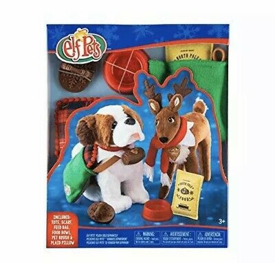AU22.63 • Buy Elf On The Shelf PETS Good Tidings Tote & Scarf Set Claus Couture Dog Reindeer