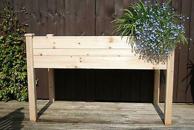Raised Wooden Planter, Herb Garden, Salad Grower  And Liner. • 55.95£
