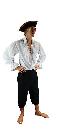 Mens Caribbean Pirate Outfit Fancy Dress Costume High Seas Buccaneer From UK • 21.50£