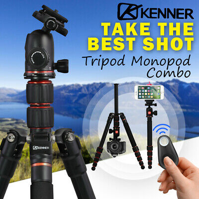 AU67.95 • Buy Kenner Camera Tripod Monopod Stand DSLR Mount Phone Holder Remote Shutter Hiking