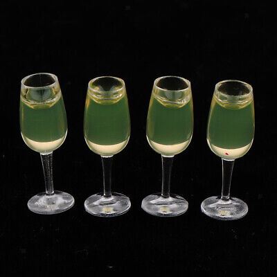 Lots 4 1/12 Scale Miniature Wine Glasses Drinking Dolls House Ornaments • 2.99£
