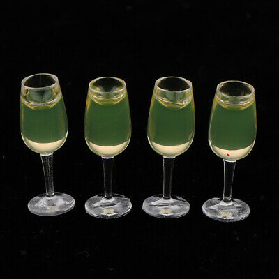 £3.49 • Buy Lots 4 1/12 Scale Miniature Wine Glasses Drinking Dolls House Ornaments