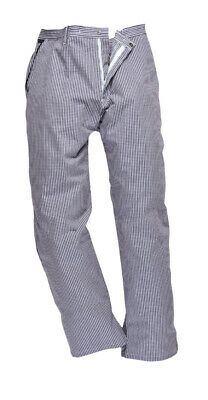 Chef's Care Unisex Small Check Chef Trousers – Blue Or Black Check  – 2XL To 4XL • 6.99£