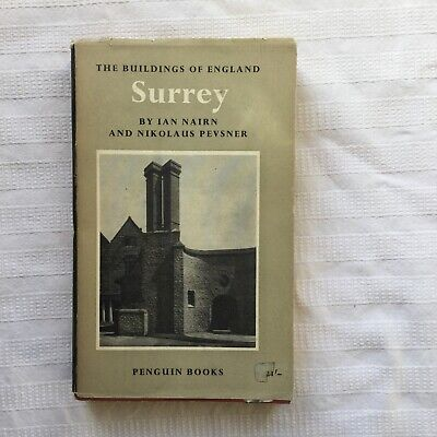 Penguin BE21 Pevsner & Ian Nairn The Buildings Of England Surrey 1st PB/DW • 15£