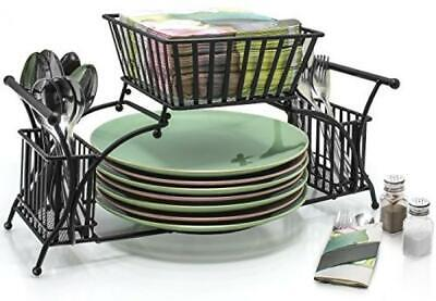 AU62.71 • Buy Utensil Caddy Use For Napkin Cutlery Plate Holder Stackable Flatware Caddy, New
